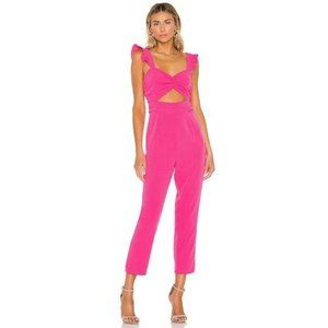 NEW Lovers + Friends Knox Hot Pink Crop Jumpsuit S